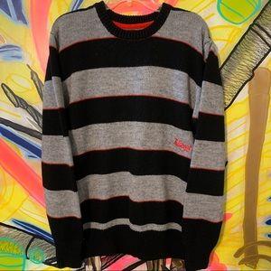 Billabong Acrylic Striped Crewneck Sweater Sz L